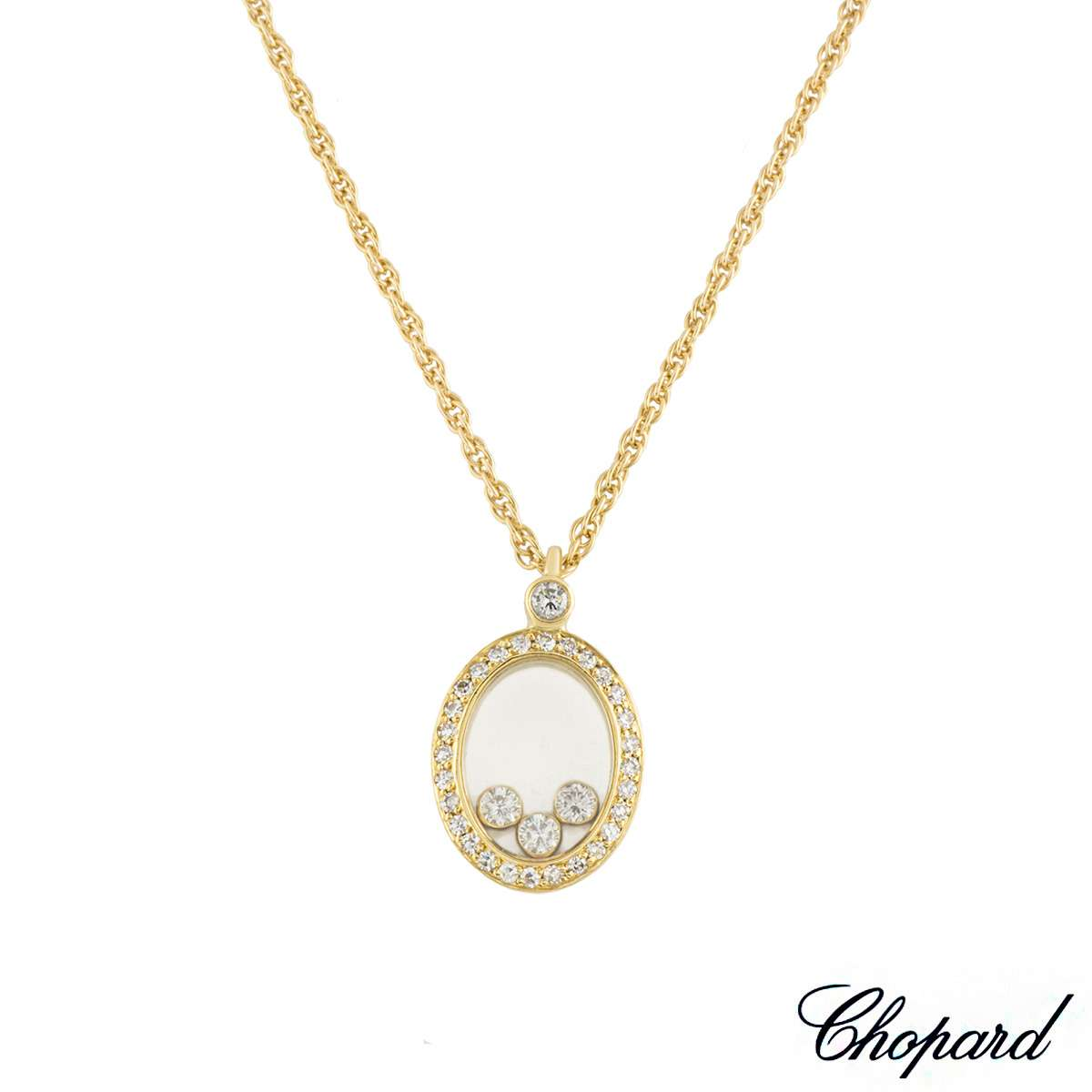 Chopard yellow gold happy diamonds pendant rich diamonds of bond chopard yellow gold happy diamonds pendant aloadofball Gallery
